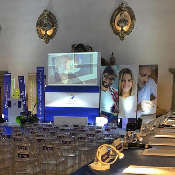 c. sanofi allestimento scenografico palazzo venezia ottobre 2019 texi digital printing factory